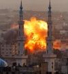 قصف إسرائيلي على غزة بعد سقوط صاروخ في بئر السبع