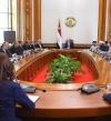 الحكومة تستعرض مع السيسى تطورات الأوضاع الخدمية والأمنية