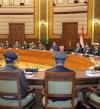 السيسى يجتمع بقيادات الجيش والشرطة لمتابعة عمليات مواجهة الإرهاب بشمال سيناء