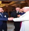 بالفيديو.. السيسى يستقبل بابا الفاتيكان بقصر الاتحادية فى لقاء الأخوة