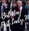 بالصور.. ترامب يهنئ زوجته ميلانيا بعيد ميلادها الأول فى البيت الأبيض