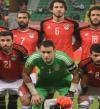 بالصور .. منتخب الفراعنة لكرة القدم يحتفل بالطائرة الخاصة بتورتة