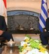 الرئيس السيسى يلتقى رئيس وزراء اليونان فى نيقوسيا