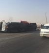 قتيلان و17 مصاباً عائلة واحدة فى انقلاب سيارة أجرة بسوهاج