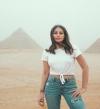 بالصور .. هبة طوجى تدعم السياحة المصرية بجلسة تصوير فى الأهرامات