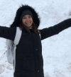 بالصور.. منال سلامة تقضى عطلتها بصحبة ابنتها فى التزحلق على الجليد