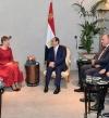 السيسى يرحب بنشاط الشركات الإستونية في مصر خلال استقباله رئيسة استونيا