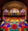المسجد الوردى فى إيران .. عندما تشكل الألوان لوحة مذهلة