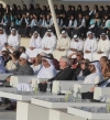 """سيف بن زايد يشهد مصادقة قادة ملتقى الأديان على """"بيان أبوظبي"""" في واحة الكرامة"""