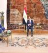 السيسى يبحث مع رئيس جامعة بوخارست تعزيز التعاون بين مصر ورومانيا