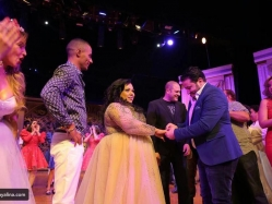 بالصور .. خطوبة شيماء سيف أمام الجمهور