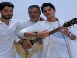 """بالفيديو.. أبناء راغب علامة وشقيقه فى """"وصلة هزار"""" بالجيتار"""