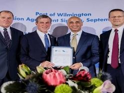 """""""غلفتينر"""" توقع اتفاقية امتياز مدتها 50 عاماً لتشغيل وتطوير ميناء ويلمنغتون بولاية ديلاوير الأمريكية"""