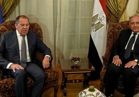 وزير خارجية روسيا يزور القاهرة ويجرى مباحثات مع سامح شكرى يعقبها مؤتمر صحفى