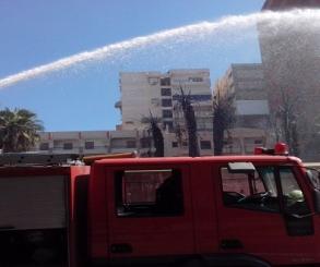 إخماد حريق بمخزن خضروات بمدينة السادس من أكتوبر