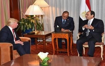 السيسى يهنىء ترامب هاتفياً ويدعوه لزيارة مصر