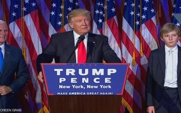 ترامب فى خطاب النصر : أتعهد بأن أكون رئيساً لجميع الأمريكيين