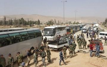 بدء تنفيذ اتفاق إخراج المسلحين من منطقة القلمون الشرقى بريف دمشق