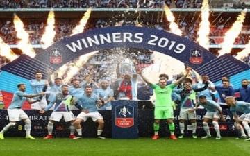 مانشستر سيتى يتوج بطلا لكأس الاتحاد الإنجليزى