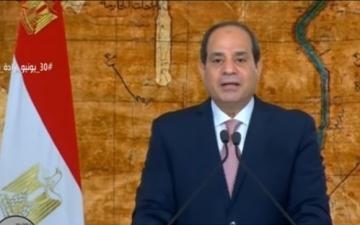 السيسي : ثورة 30 يونيو صيحة تعبير عن اقوى الثوابت المصرية