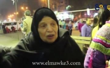 """بالفيديو ..سيدة مسنة فى الاستفتاء """" هننزل ولو هنموت """""""