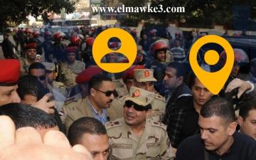 بالفيديو … لحظة دخول وخروج الفريق أول عبدالفتاح السيسي
