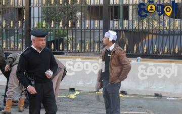 بالفيديو ..اصابات افراد الشرطة امام مديرية امن القاهرة