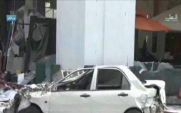 """بالفيديو : انفجار """"الدوحة"""" جراء حريق بمطعم قرب أحد محطات البترول"""