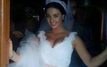 حقيقة زواج الراقصة صافيناز .. وسر ارتداءها فستان الزفاف !!