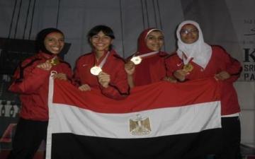 منتخب مصر كوميتيه السيدات يحقق الذهبية فى بطولة العالم للكاراتيه