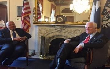 وزير الخارجية يتوجه إلى نيويورك بعد سلسلة لقاءات هامة فى واشنطن
