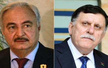 محادثات فى موسكو بين حفتر والسراج لانهاء الصراع فى ليبيا