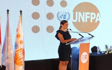 أمينة خليل .. سفيرة فخرية لصندوق الأمم المتحدة للسكان في مصر