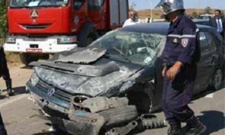 مصرع 13 بينهم 10 مجندين وأمين شرطة فى حادث تصادم ببنى سويف