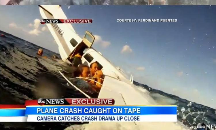 بالفيديو.. راكب يسجل لحظة تحطم طائره إثناء سقوطها بالمحيط
