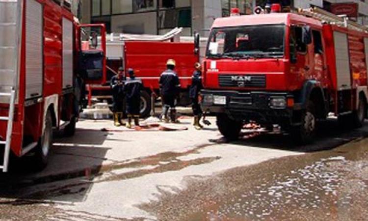 حريق محدود بمزرعة كلية الزراعة جامعة المنصورة