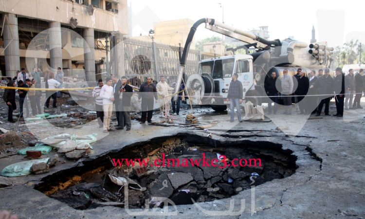 بالصور والفيديو انفجار مديرية أمن القاهرة والدقي .. ملف