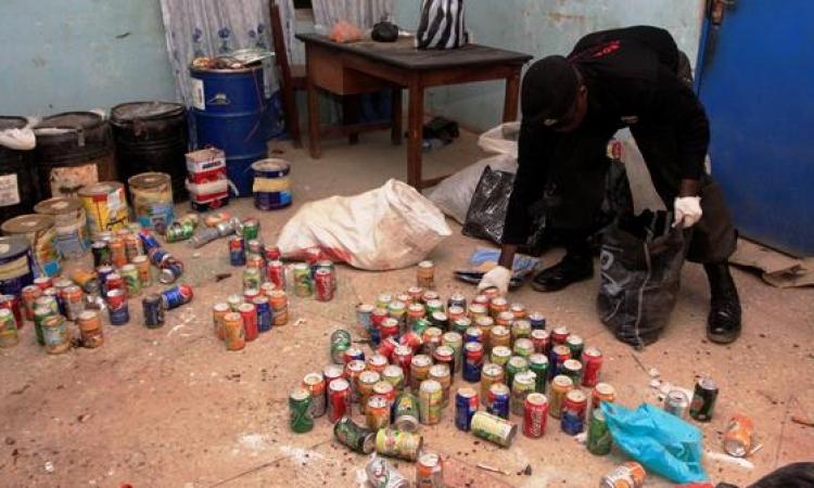 مباحث الجيزة تلقي القبض على 5 أشخاص بحوزتهم قنابل يدوية ببولاق