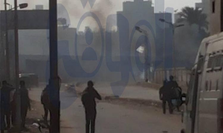 """.أنصار الإرهابية يواجهون قوات الأمن بـ""""المولوتوف"""" بشارع السودان"""