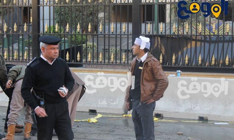 الموقع  بالصور محيط مبني مديرية امن القاهرة بعد الانفجار