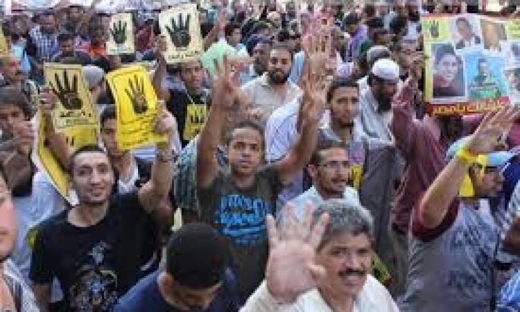 اهالى الخطاطبة يفرقون مسيرة للارهابية هتفت ضد الجيش