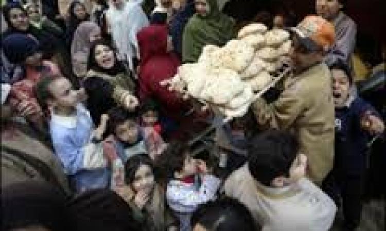 وقفة احتجاجية لأهالي القصاصين احتجاجًا على أزمة الخبز