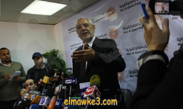 أبو الفتوح يعلن عدم ترشحه للرئاسة