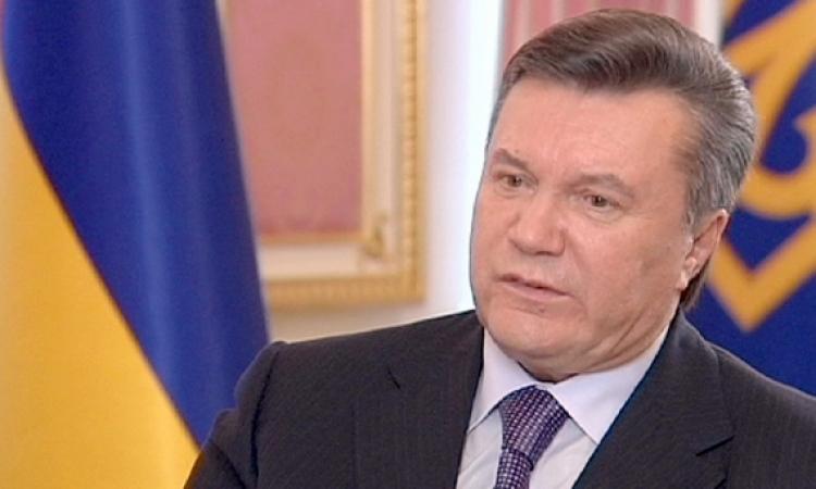 """الرئيس الأوكراني: لن أتقدم باستقالتي وسأدافع عن """"الشرعية"""""""