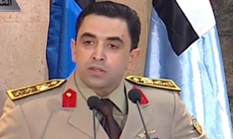 المتحدث العسكري يلقي محاضرة حول حروب الجيل الرابع بكلية الشرطة