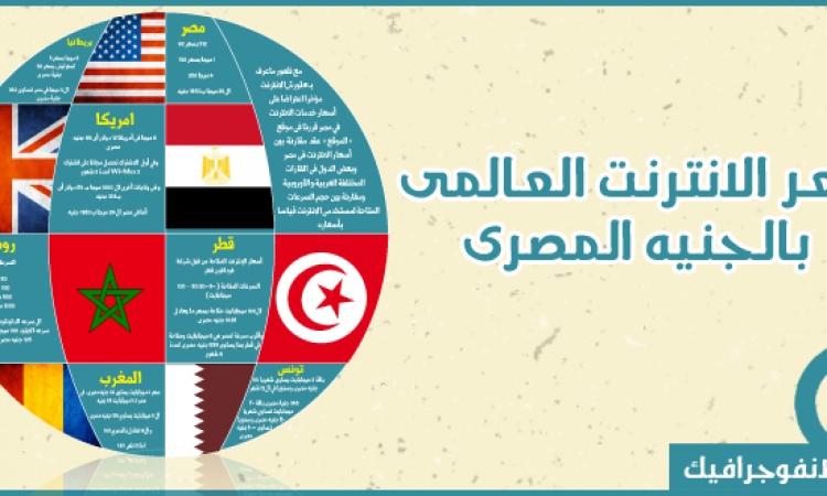 بالانفوجرافيك .. مقارنة أسعارالانترنت بين مصر والعالم