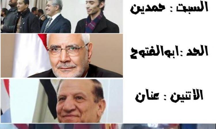 نشطاء يتساءلون عن سر غياب «شاهين» و«عزيز» عن مؤتمر «أبو الفتوح»