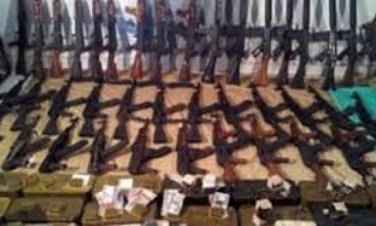 الداخلية: ضبط 13 الف سلاح نارى و17 صاروخ و121 قنبلة و18 مدفع  خلال 7 اشهر