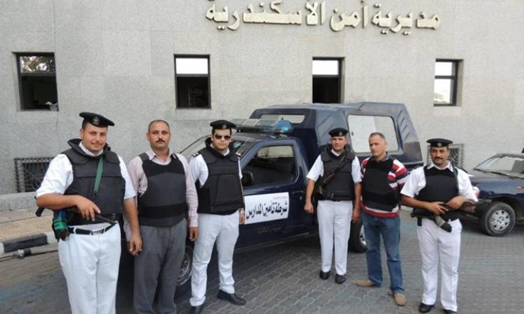 انفجار قنبلة صوتية أمام مديرية أمن الإسكندرية