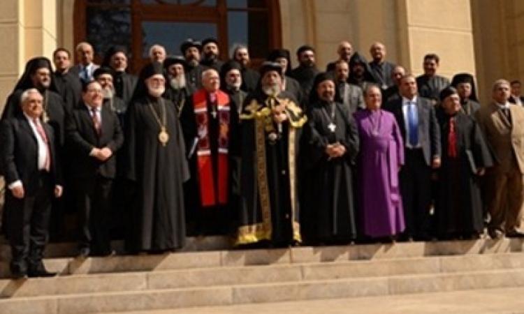 مجلس كنائس مصر يقيم الصلاوات في بازيليك الكاثوليك بحضور كافة الطوائف